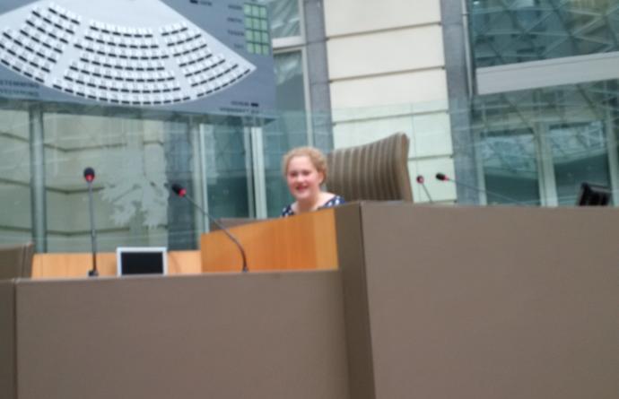 Marie Van Dyck in het Vlaams Parlement in het kader van Zuiddag